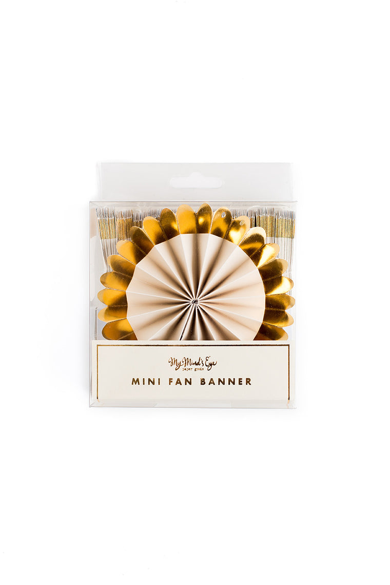 My Minds Eye Paper Goods FANCY MINI FAN BANNER