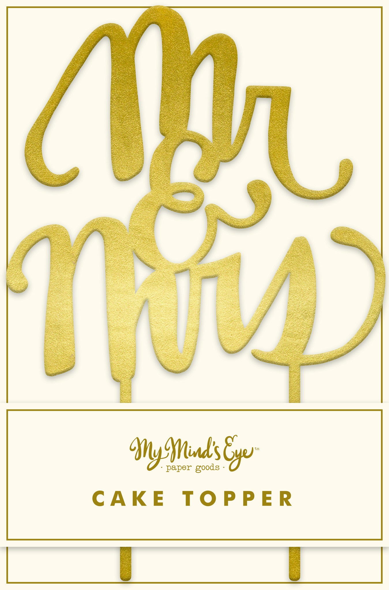 My Minds Eye Paper Goods CAKE TOPPER-MR&MRS