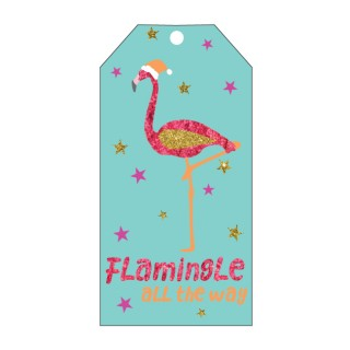 CANDLEBARK Flamingle Greeting tag set of 10