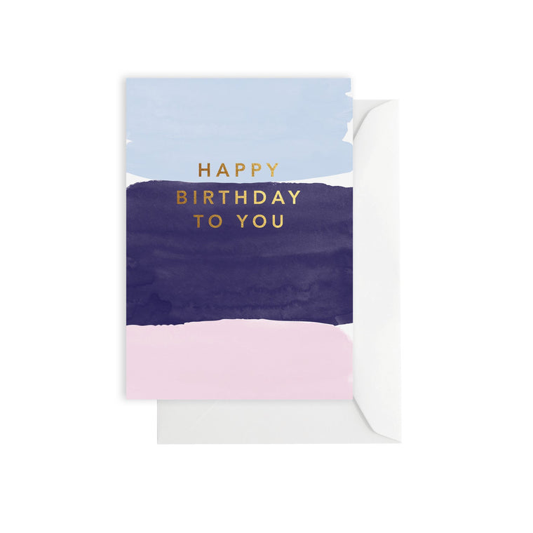 ELM PAPER-Watercolour birthday card