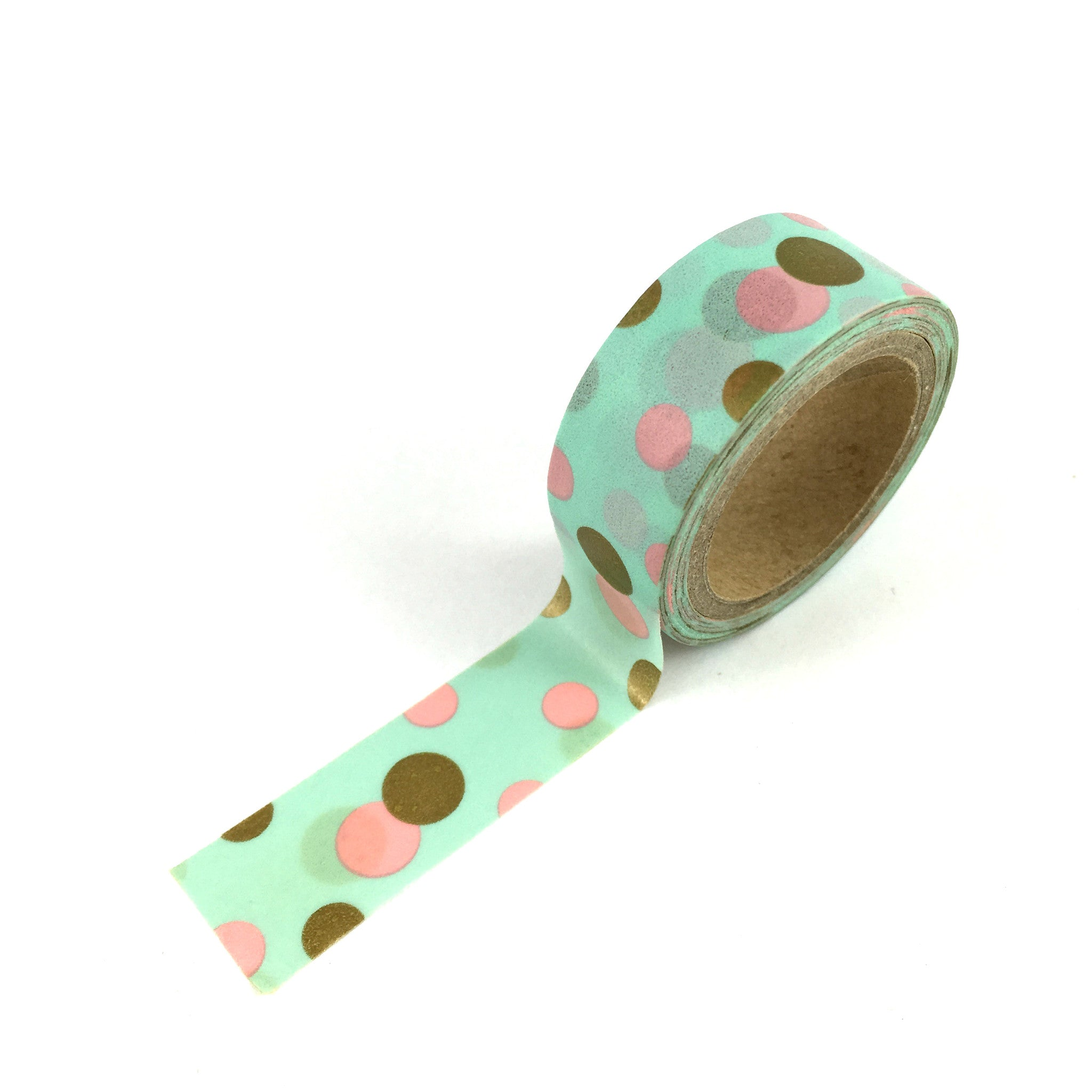 Washi Tape-Green with spots