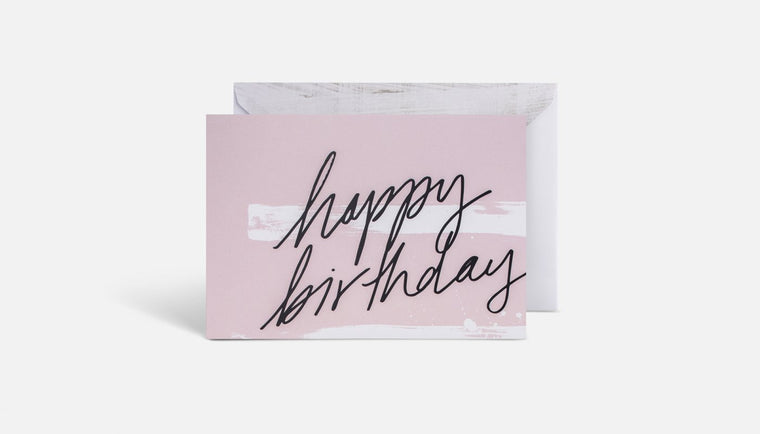 Blacklist Greeting Card - Birthday Pink