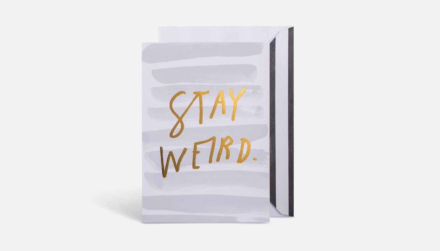 Blacklist Greeting Card - Stay weird
