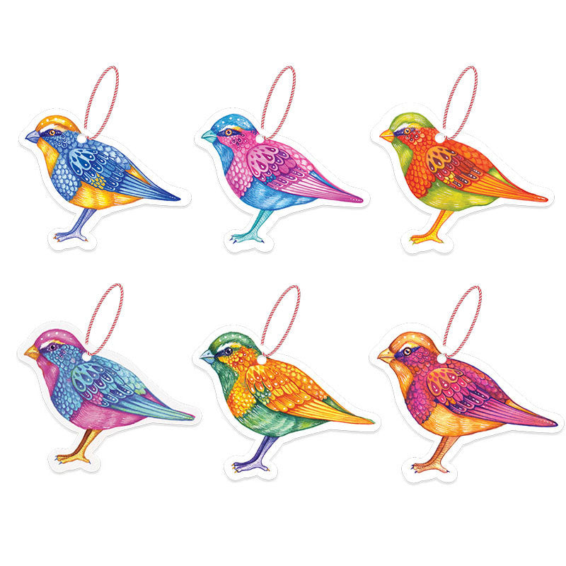 LA LA LAND-Christmas birds Gift Tag