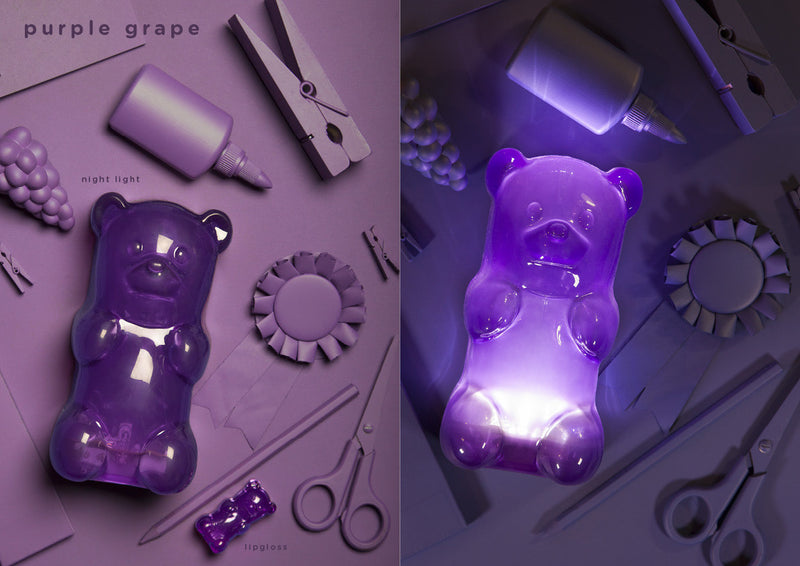 GUMMYGOODS- Gummy Bear Night Light-Purple Grape