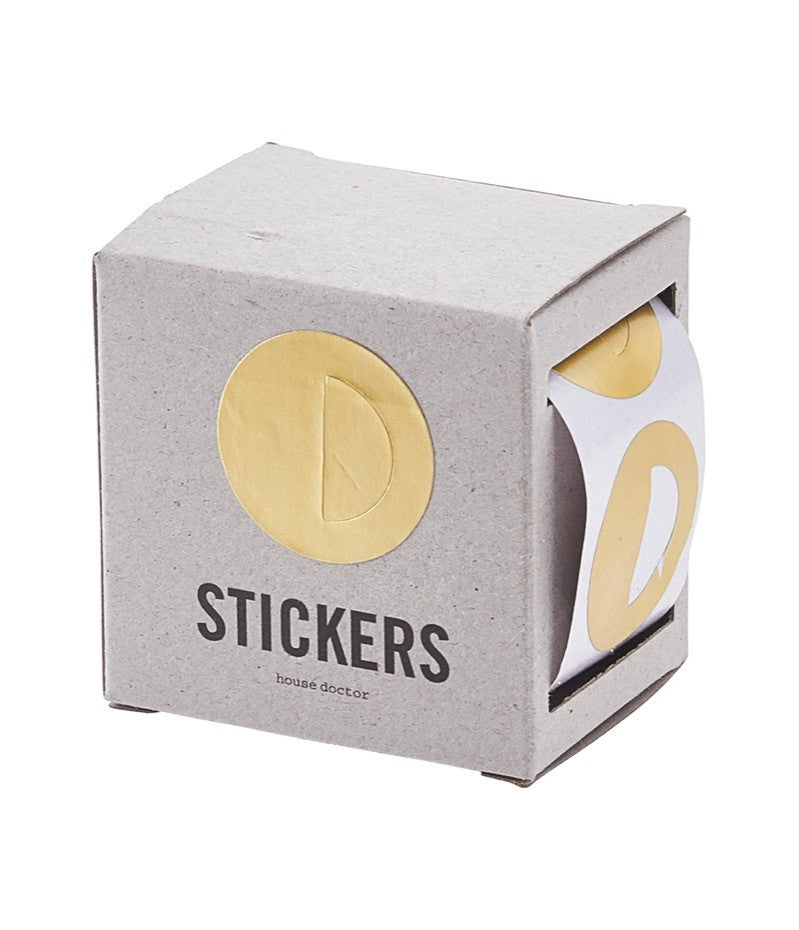 HOUSE DOCTOR Paper Stickers-Dots-5m-Gold