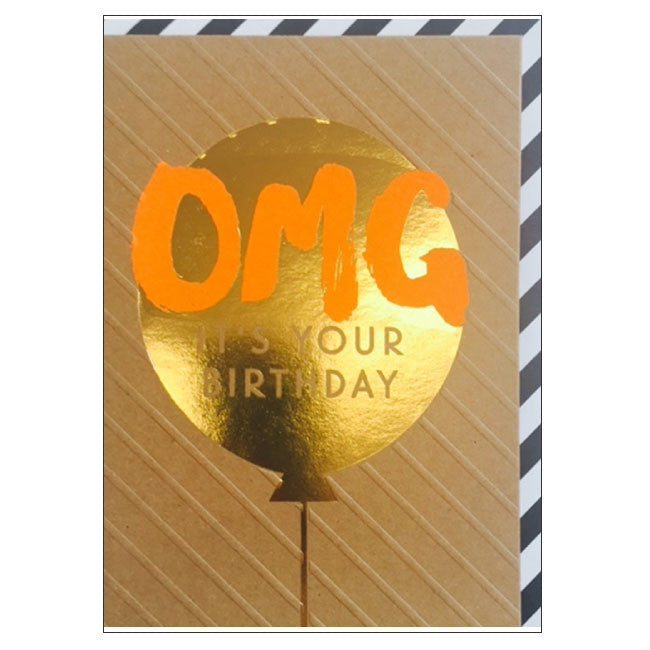 CANDLEBARK OMG Balloon! card