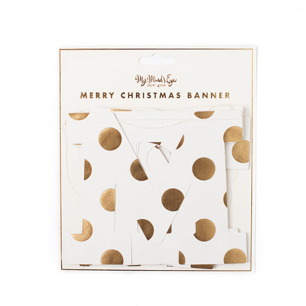 My Minds Eye Paper Goods MERRY CHRISTMAS BANNER