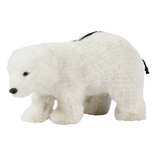 DOWN TO THE WOODS Hanging Bear Decoration-WHITE