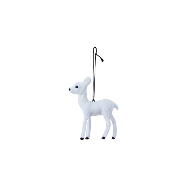 DOWN TO THE WOODS Doe Decoration-White