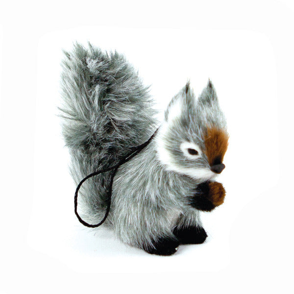 DOWN TO THE WOODS Hanging Squirrel Decoration-Grey