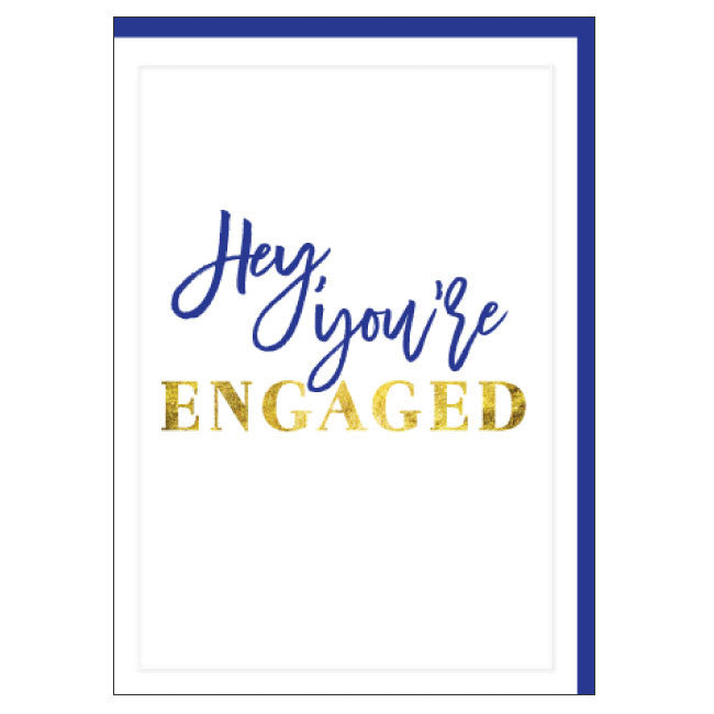 CANDLEBARK Hey Engaged card