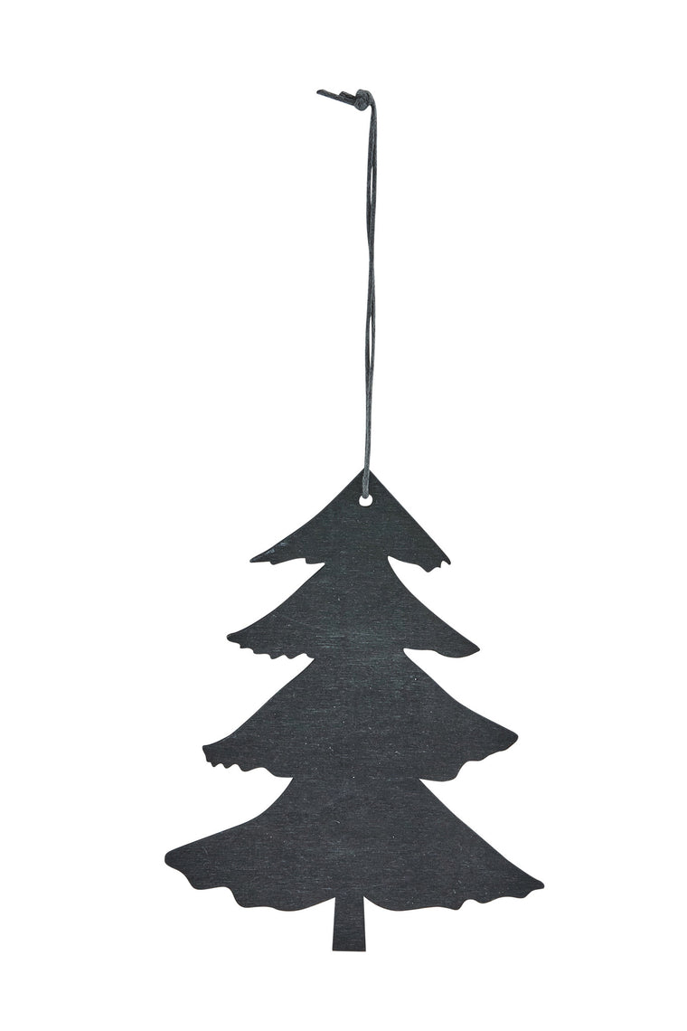 HOUSE DOCTOR Pine Tree Ornament-black-Large