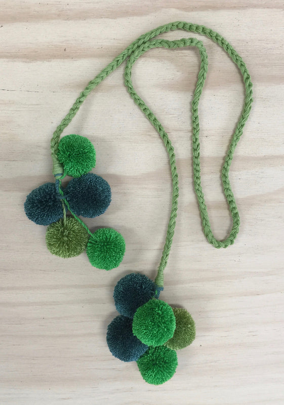 THE GOODS CO- Greens columbian long wrap poms