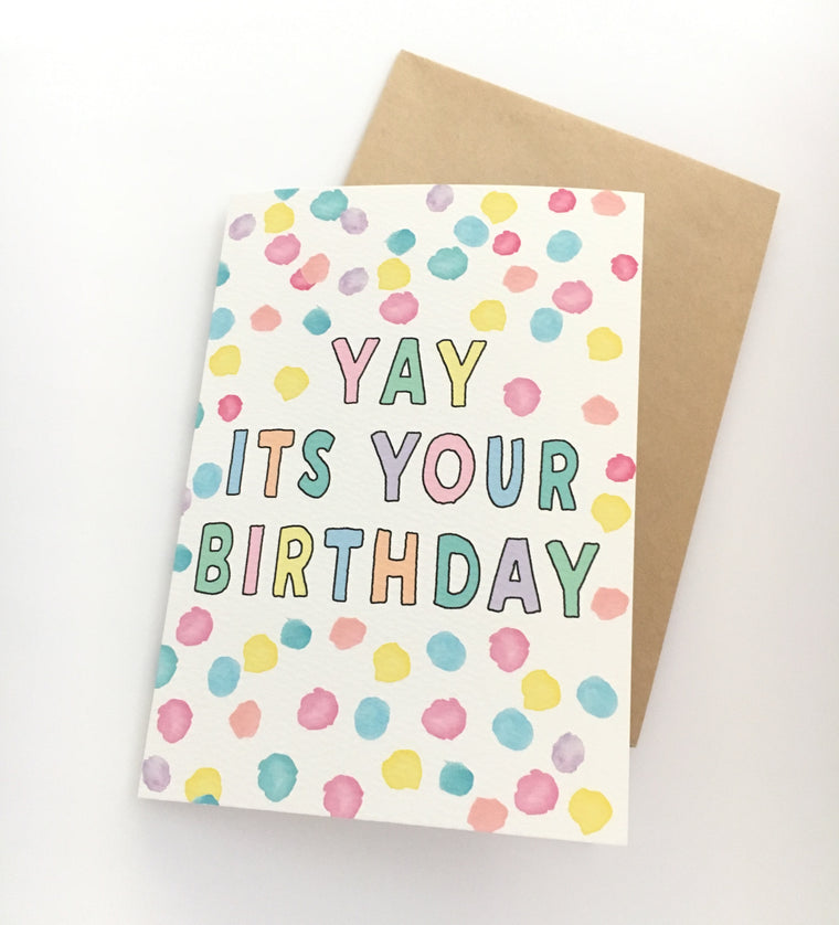 LITTLE PAPER LANE Greeting Card-Yay Its Your Birthday