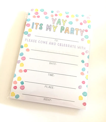 LITTLE PAPER LANE DIY Invitations-Yay It's My Party