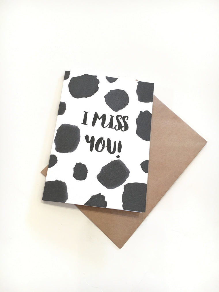 LITTLE PAPER LANE Greeting Card-I Miss You