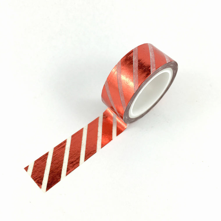 Washi Tape- Red FOIL stripe