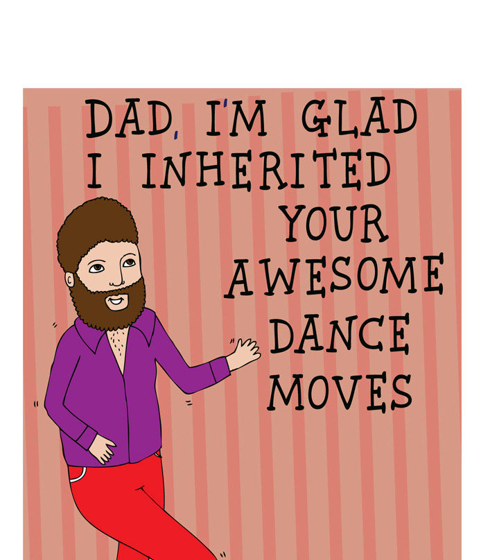 ABLE AND GAME- Awesome dance skills greeting card