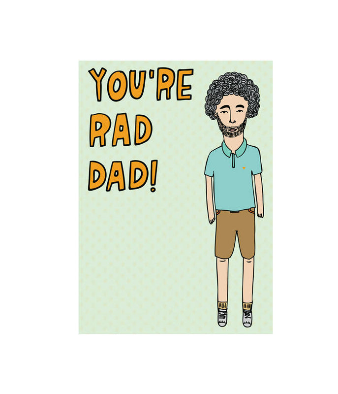 ABLE AND GAME- You're rad dad greeting card