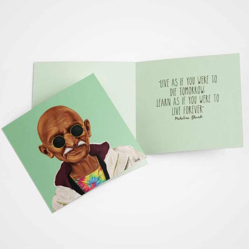 LA LA LAND- Ghandi greeting card