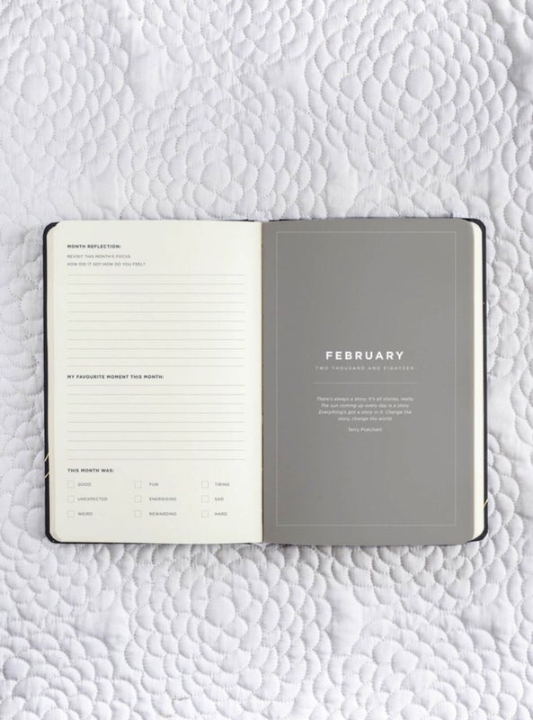 FRANK STATIONERY- 2018 Diary | Daily Planner-Black