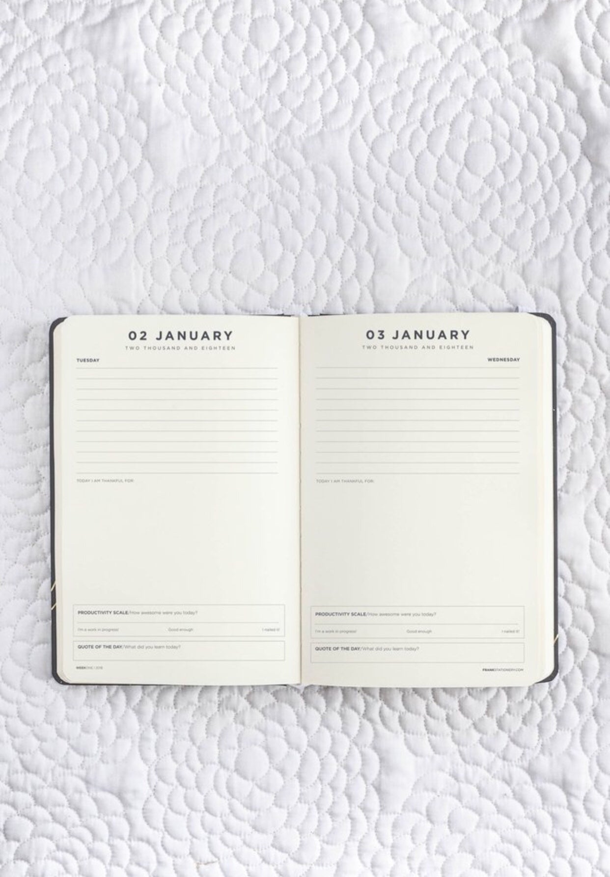 photograph relating to The Daily Planner referred to as FRANK STATIONERY- 2018 Diary Day by day Planner-Black