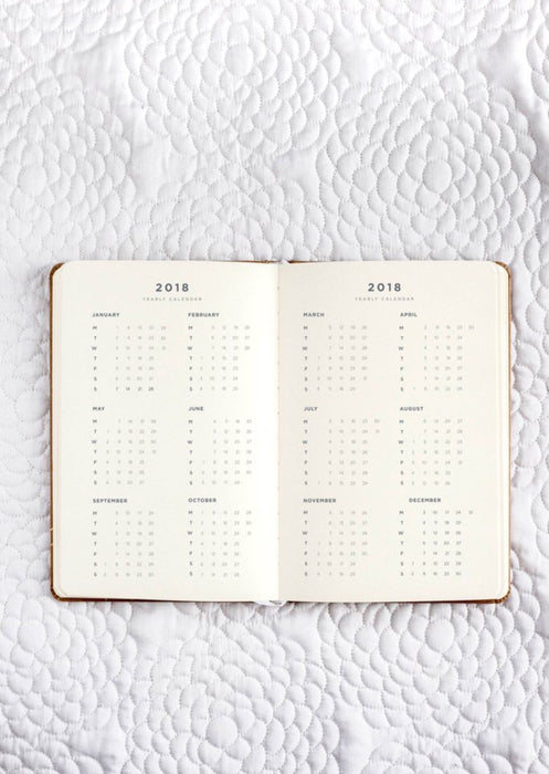 FRANK STATIONERY- 2018 Diary | Daily Planner-Kraft