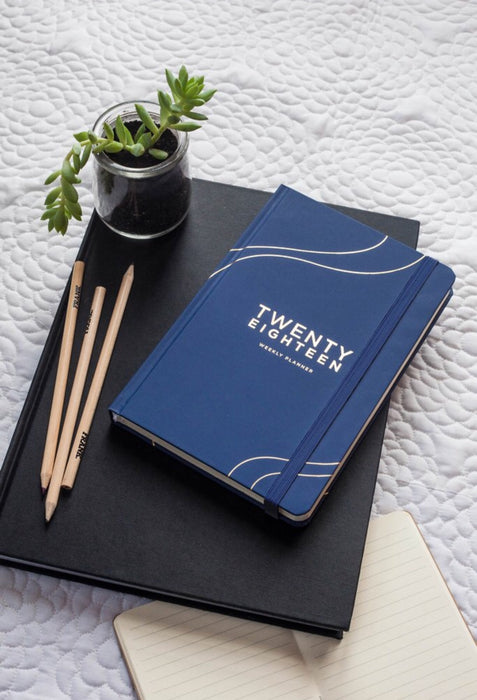FRANK STATIONERY- 2018 Diary | Weekly Planner- Navy