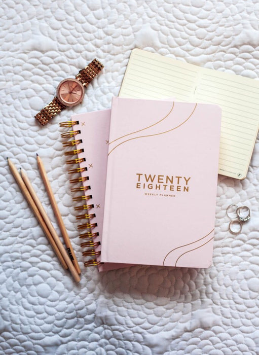 FRANK STATIONERY- 2018 Diary | Weekly Planner-blush