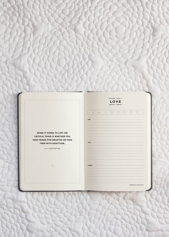 FRANK STATIONERY- Gratitude Journal | black