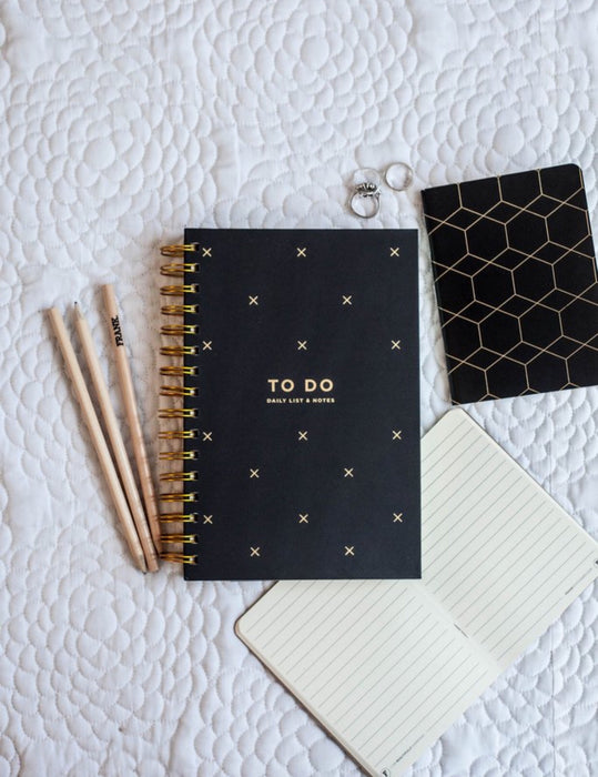 FRANK STATIONERY- To-do daily list & Notes | black