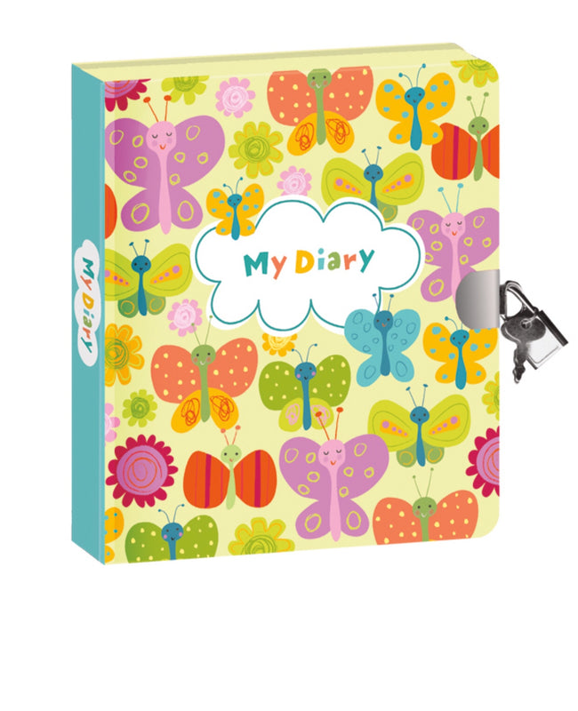 Lock and Key diary-Butterflies GLO