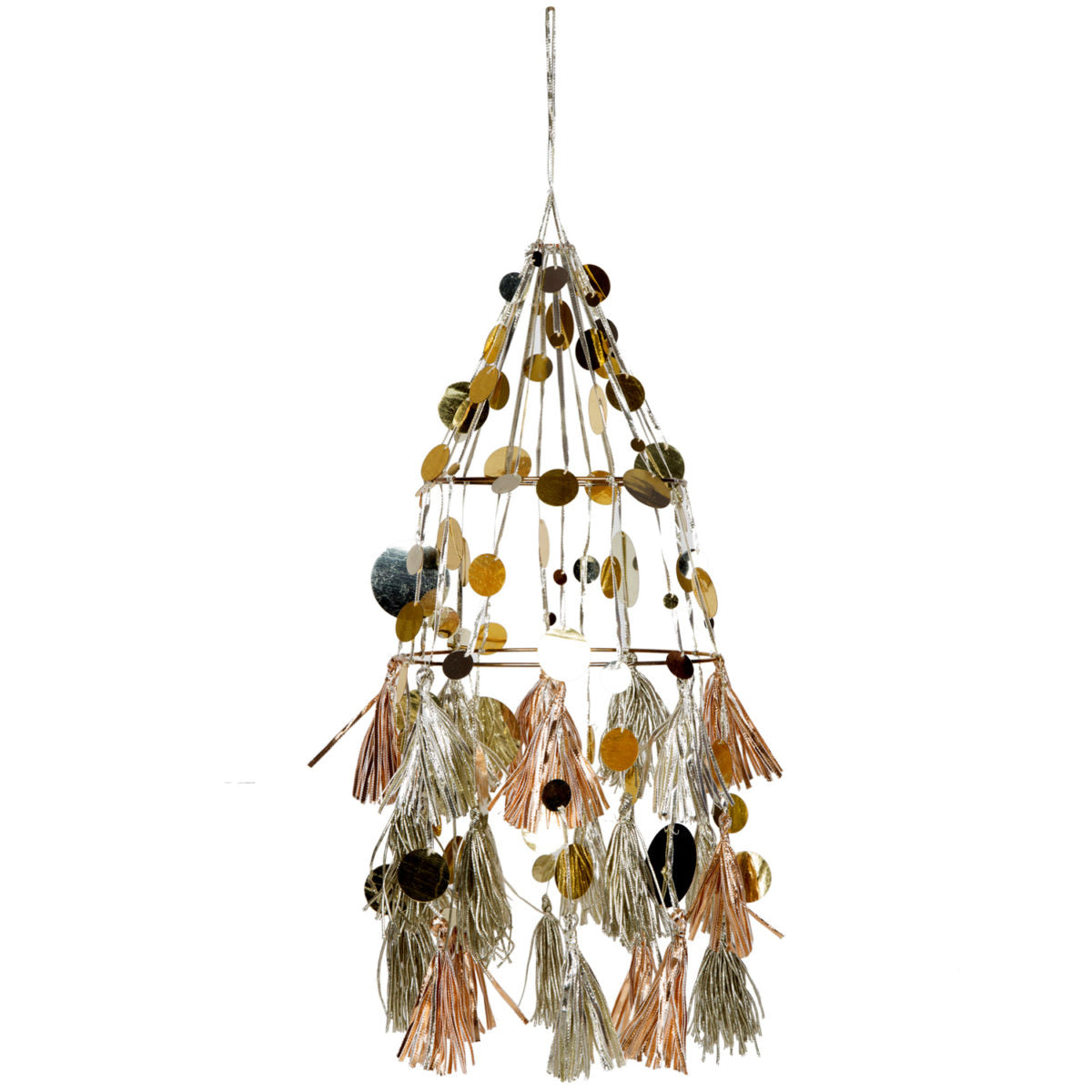 Gold Chandelier Folding Lampshade