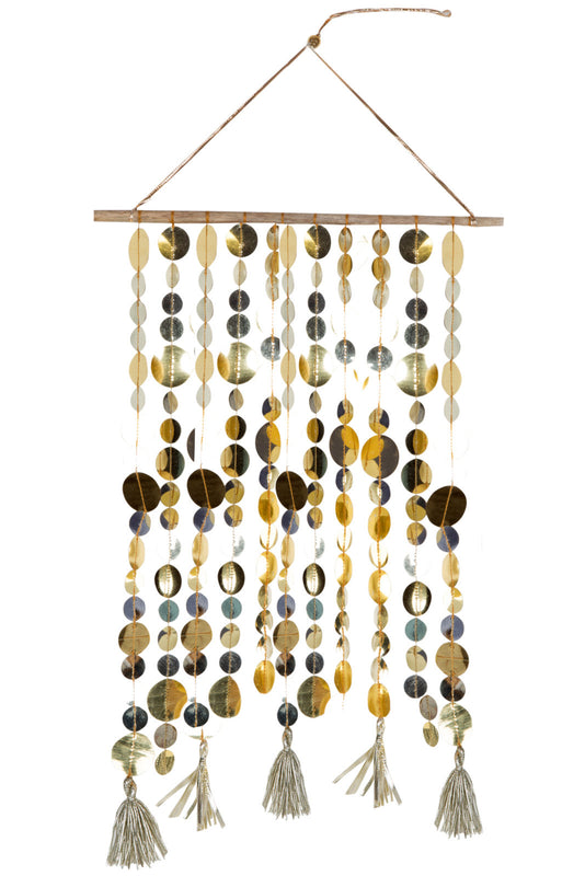 GOLD Sequins Wall Hanging