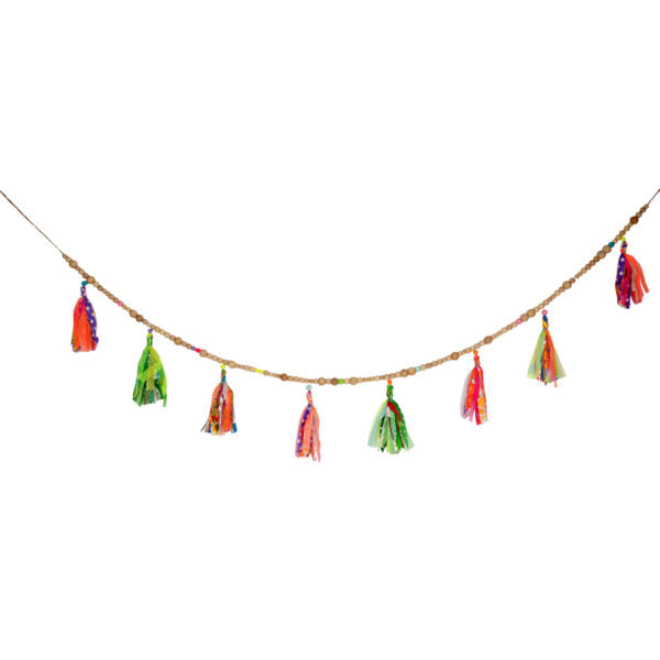 Wood Beads/Multi Garland Large