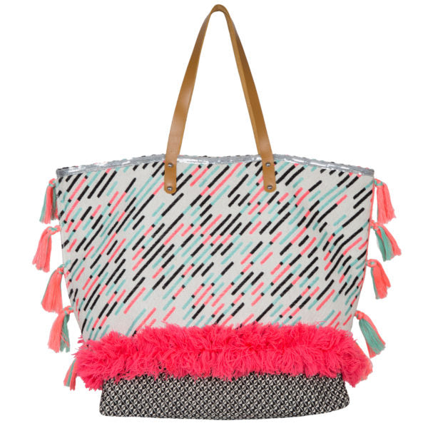 Diagonal Pink Shopper