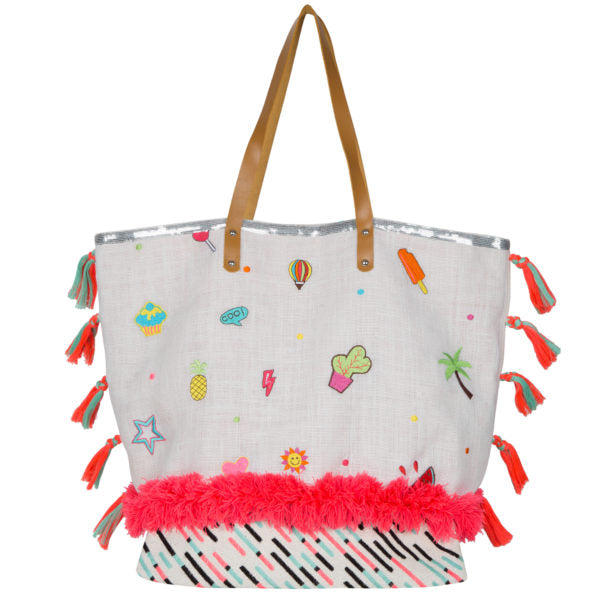Natural Sticker Embroidery Bag