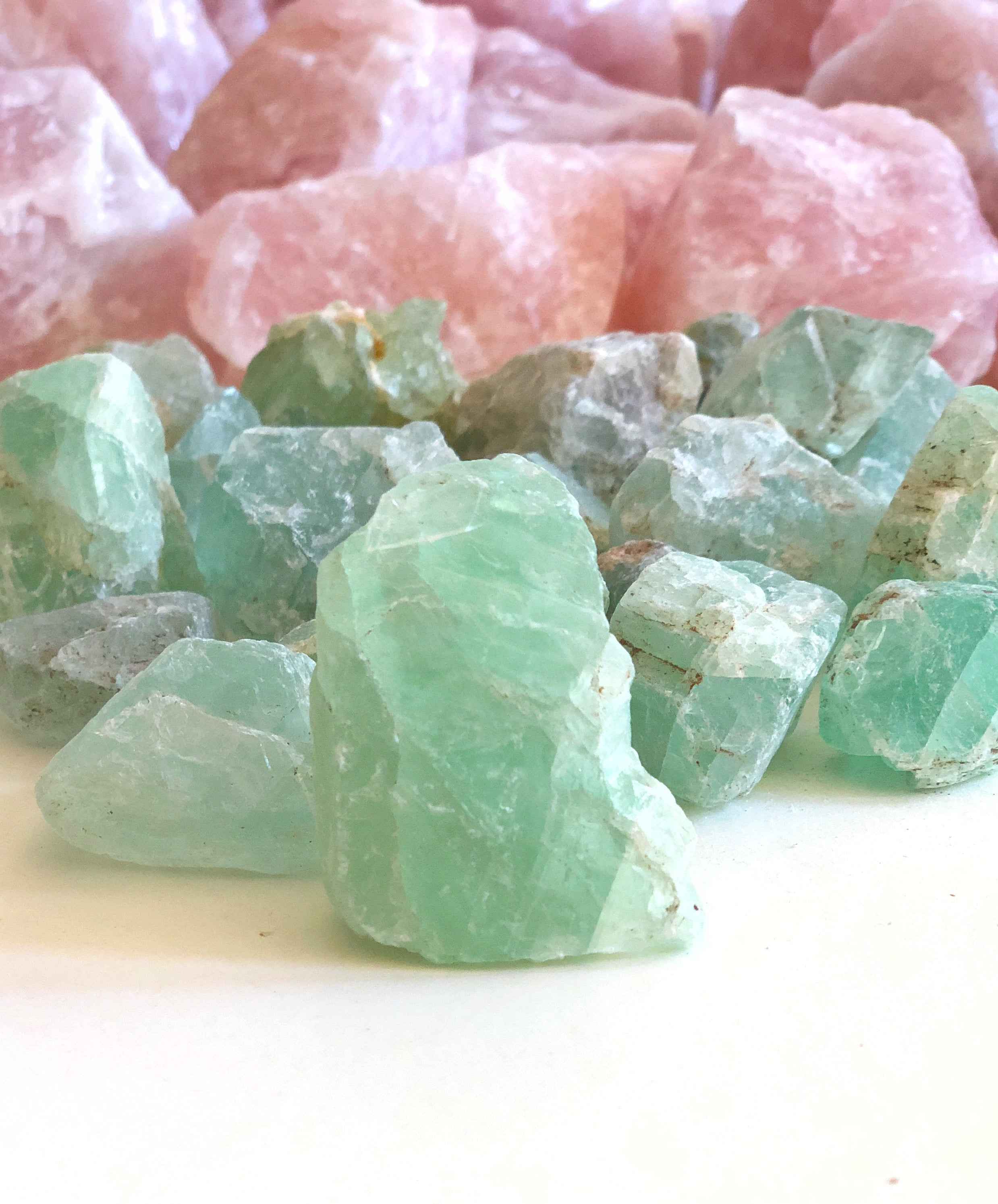 LITTLE PAPER LANE Crystals- Raw Green Fluorite $6