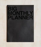 Undated Planner - Monthly - Big (30x42cm) - Black