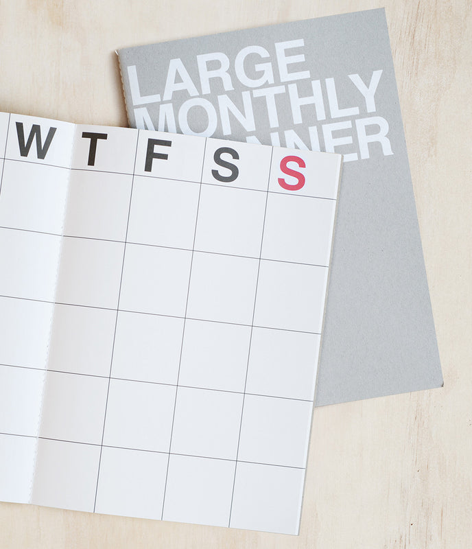 Undated Planner - Monthly - Large - Grey