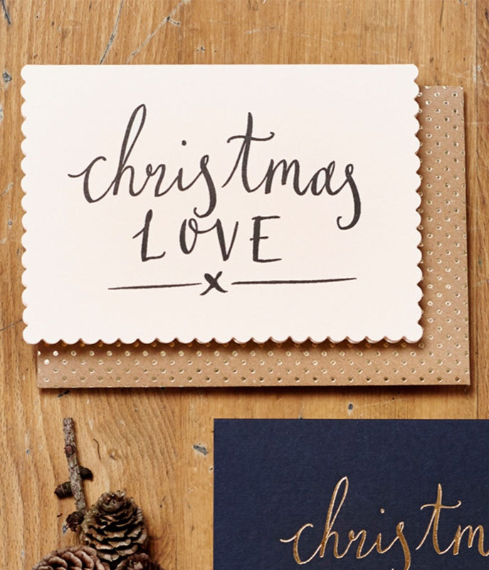 KATIE LEAMON Christmas love(Hand Printed) card