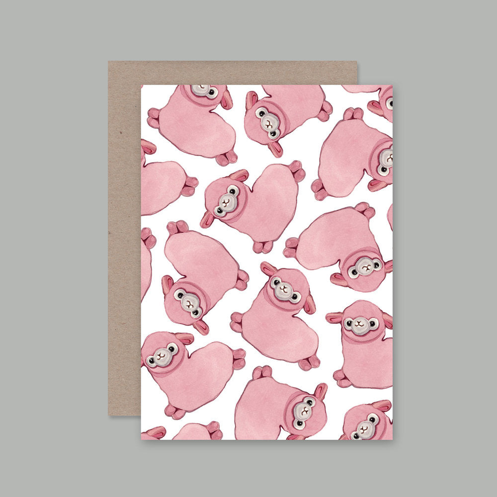 AHD Pink greeting card