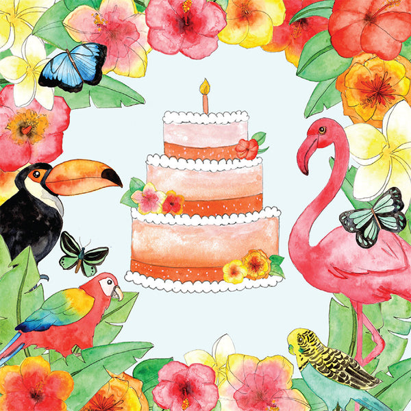LA LA LAND-Jungle Birthday Mini card