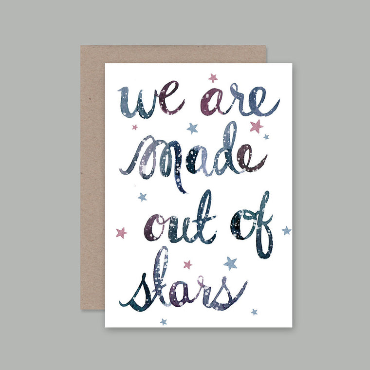 AHD Made out of Stars greeting card