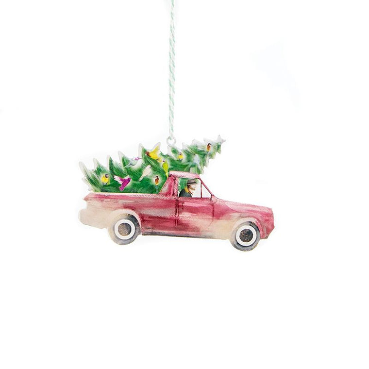 LALALAND- Metal Ornament-Red ute