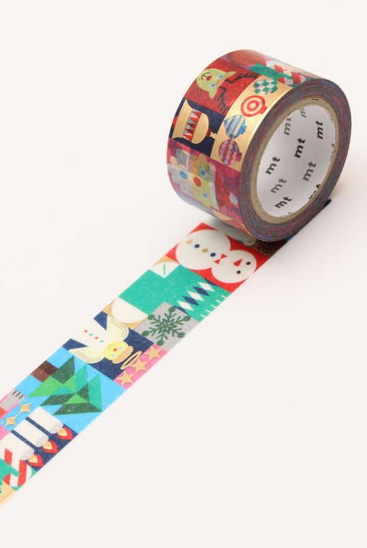MT MASKING TAPE Single Roll - Geometric Christmas