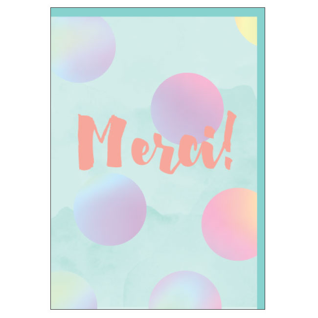 CANDLEBARK Merci card