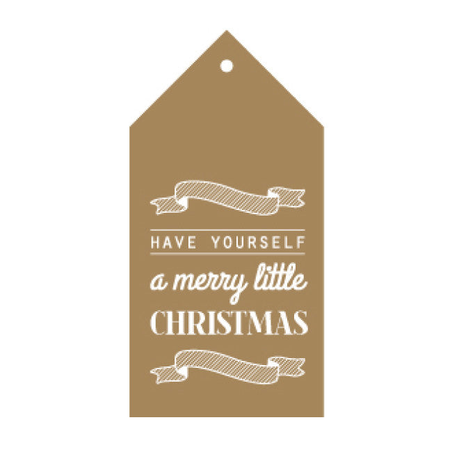 CANDLEBARK Merry little Christmas gift tag set of 10