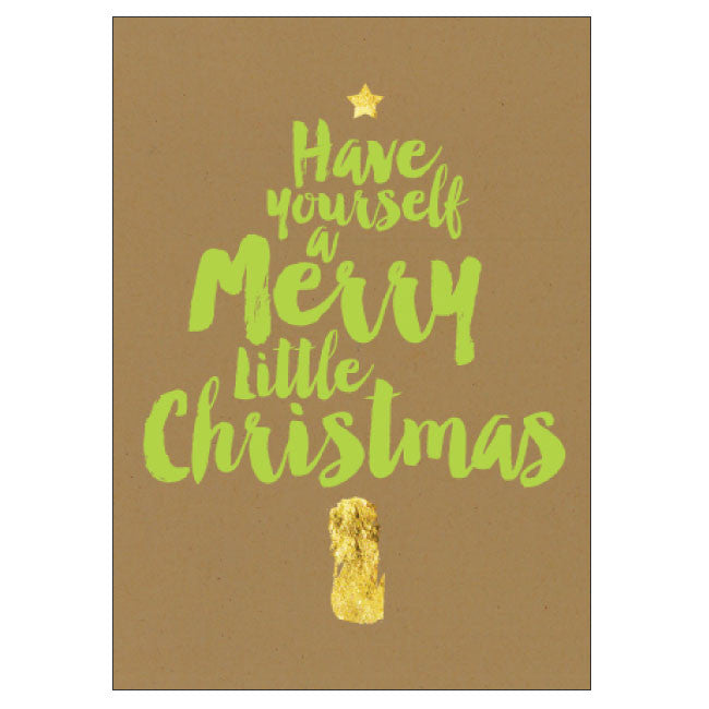 CANDLEBARK Merry little christmas tree card